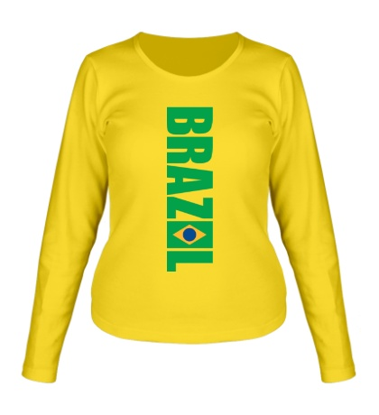 Женский лонгслив Brazil