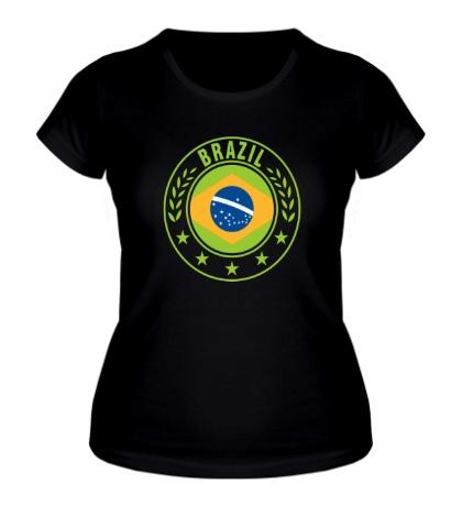 Женская футболка Brazil, ЧМ-2014
