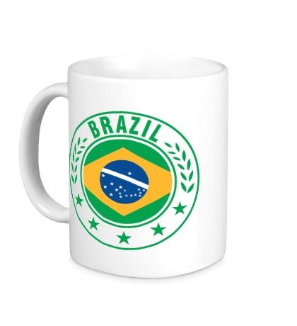 Керамическая кружка Brazil, ЧМ-2014