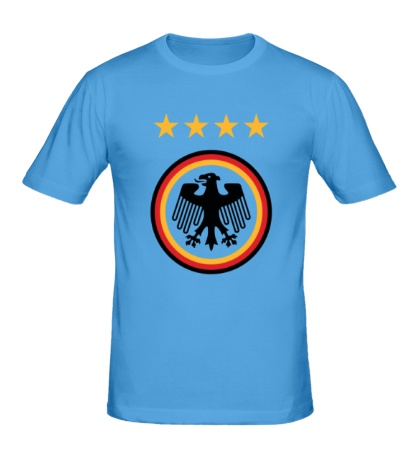 Мужская футболка Germany Football: 4 stars