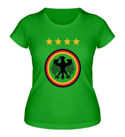 Женская футболка Germany Football: 4 stars