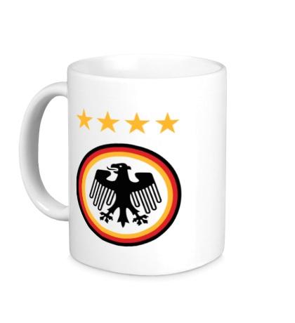 Керамическая кружка Germany Football: 4 stars