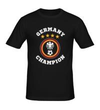 Мужская футболка Germany Champion: 4 stars