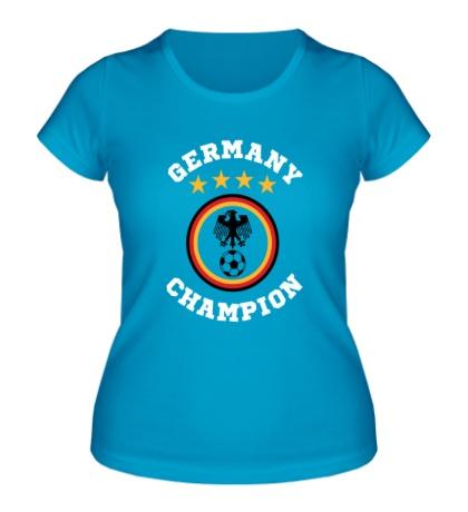 Женская футболка Germany Champion: 4 stars