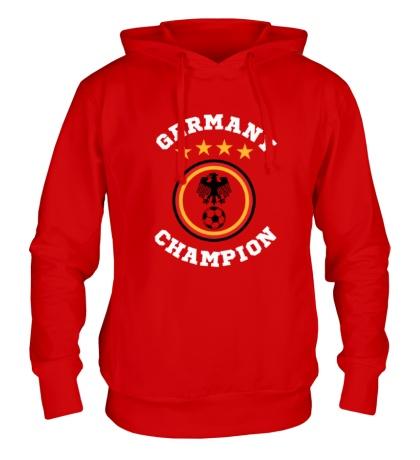 Толстовка с капюшоном Germany Champion: 4 stars