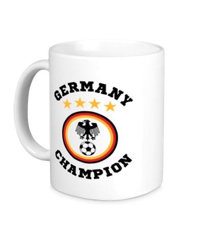 Керамическая кружка Germany Champion: 4 stars