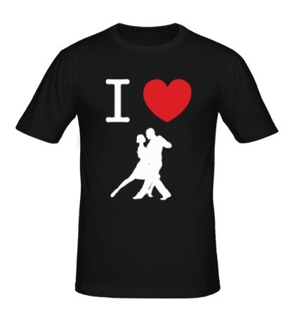 Мужская футболка Я люблю Танго
