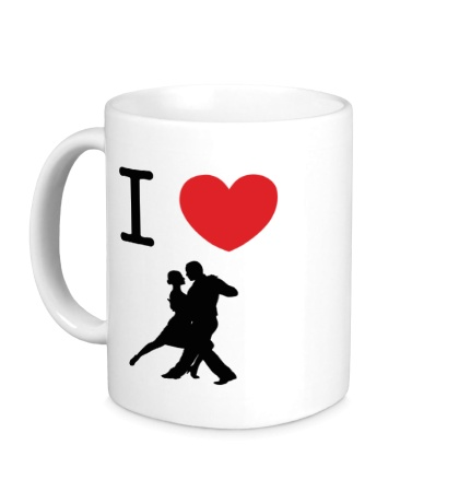 Керамическая кружка Я люблю Танго