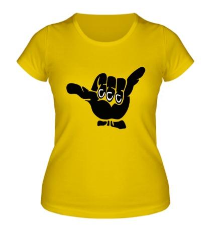 Женская футболка Подымим?