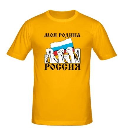 Мужская футболка Россия, родина моя