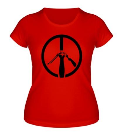 Женская футболка Символ пацифизма