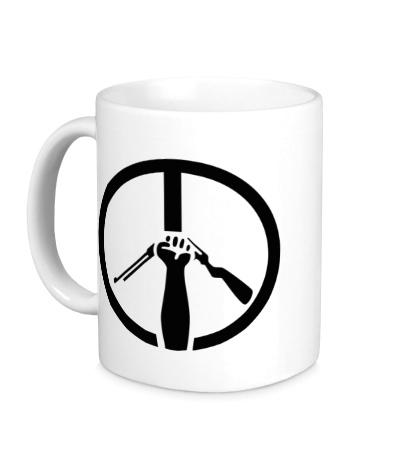 Керамическая кружка Символ пацифизма