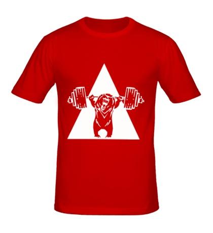 Мужская футболка Powerlifting Bear