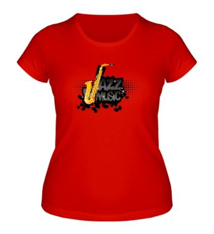 Женская футболка Jazz music