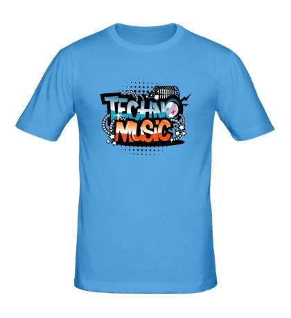 Мужская футболка Techno music