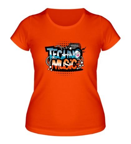 Женская футболка Techno music
