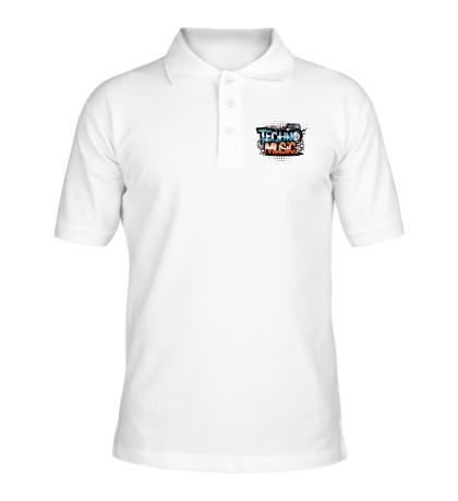 Рубашка поло Techno music