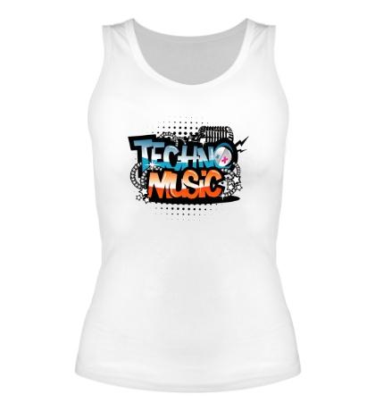Женская майка Techno music