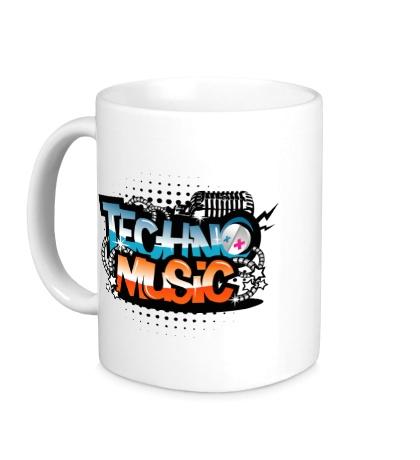 Керамическая кружка Techno music