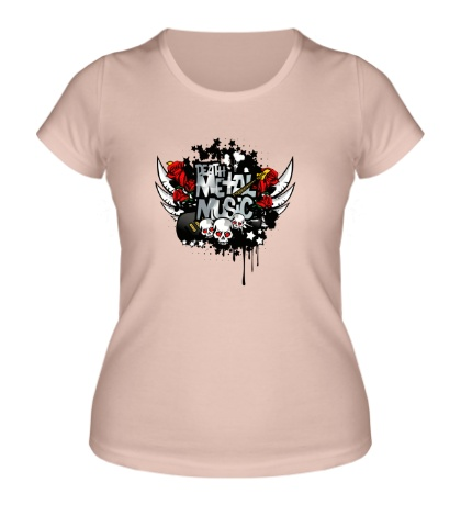 Женская футболка Death Metal Music
