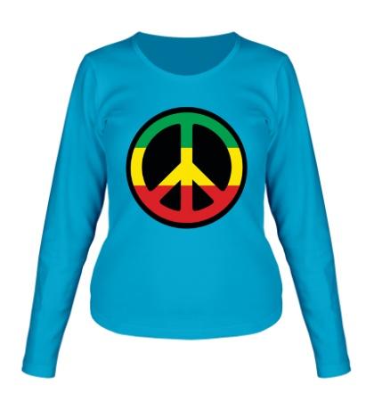 Женский лонгслив Peace Symbol
