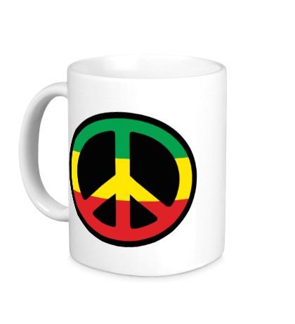 Керамическая кружка Peace Symbol