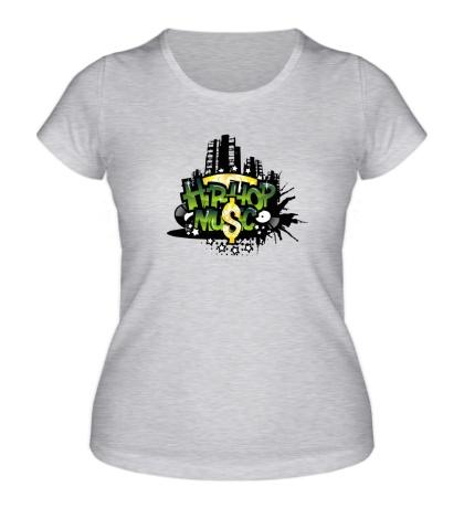 Женская футболка Hip-Hop music