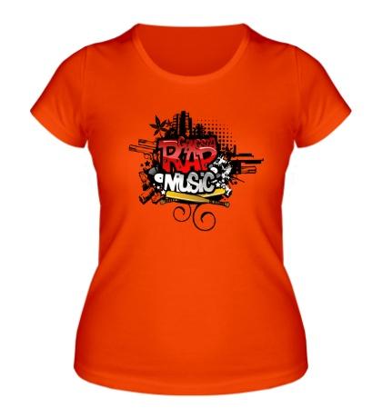 Женская футболка Rap music