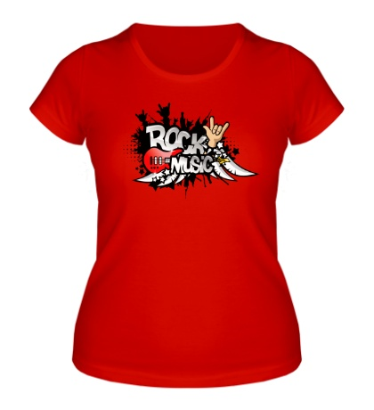 Женская футболка Rock music