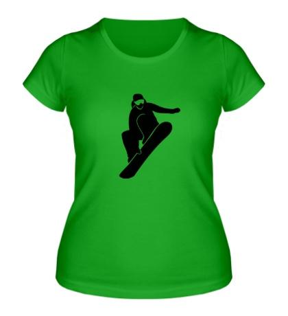 Женская футболка Ice Snowboard