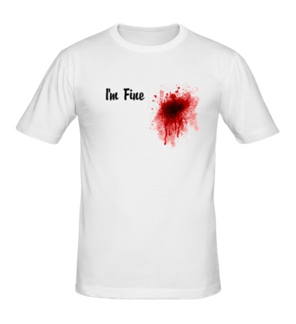 Мужская футболка Кровавое пятно на сердце