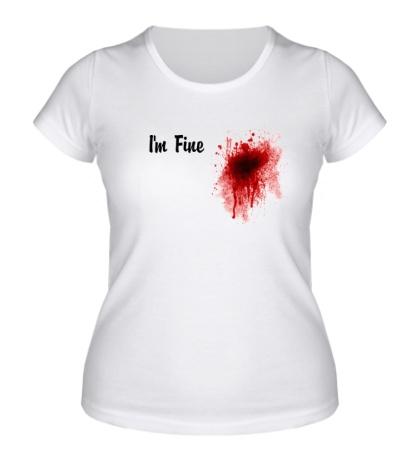 Женская футболка Кровавое пятно на сердце