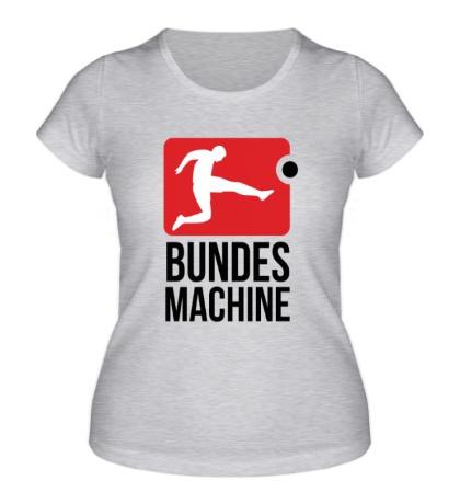 Женская футболка Bundes machine football
