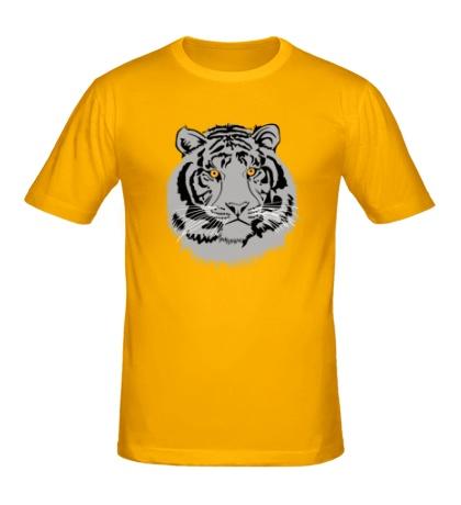 Мужская футболка Серый тигр