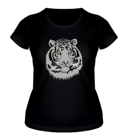 Женская футболка Серый тигр