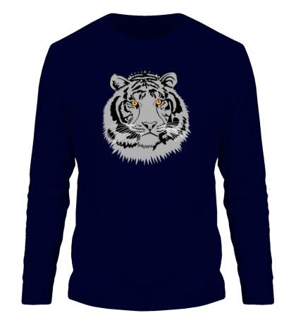 Мужской лонгслив Серый тигр