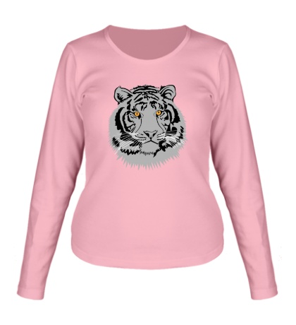 Женский лонгслив Серый тигр