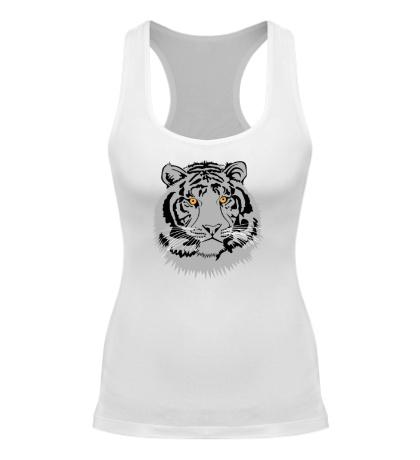 Женская борцовка Серый тигр