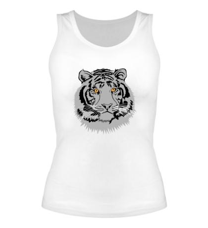 Женская майка Серый тигр