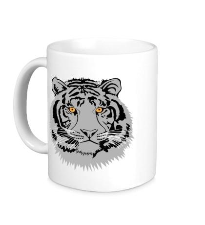 Керамическая кружка Серый тигр