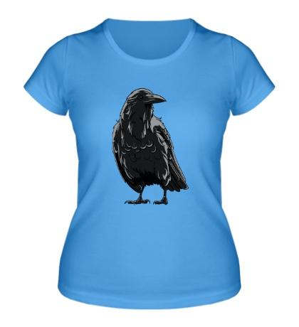 Женская футболка Черный ворон