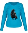 Женский лонгслив «Черный ворон» - Фото 1