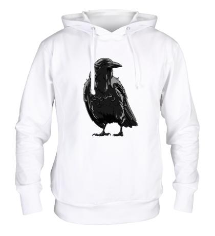 Толстовка с капюшоном Черный ворон