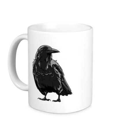Керамическая кружка Черный ворон