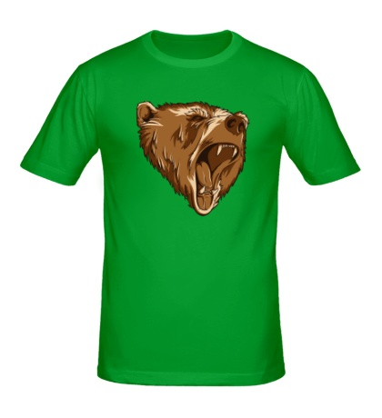 Мужская футболка Разъяренный медведь
