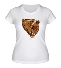 Женская футболка Разъяренный медведь