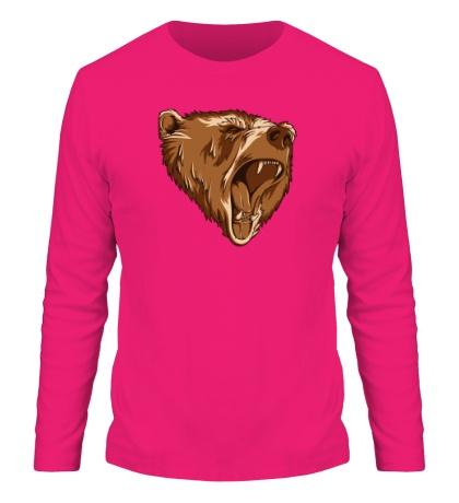 Мужской лонгслив Разъяренный медведь