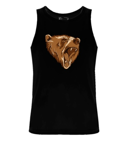 Мужская майка Разъяренный медведь