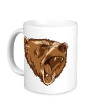 Керамическая кружка Разъяренный медведь