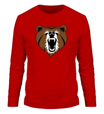Мужской лонгслив Бурый медведь